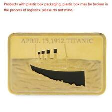 Golden Commemorative Coins Collection For Tragedy Souvenir Of The Titanic 1912