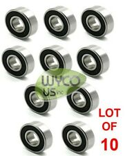 "TEN SEALED BALL BEARINGS, 99502H-5/8-C3, 1-3/8"" X 5/8"", GO KART, MINI BIKES, 4X4"