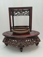 Collection Of Vintage Chinese Carved Wood Stands