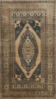 4x8 Muted Semi-Antique Anatolian Turkish Oriental Area Rug Hand-knotted Carpet