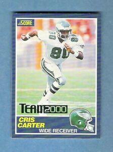 CRIS CARTER Score Team 2000 Green #12/200 Minnesota Vikings Rookie Reprint