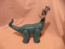 "FISHER PRICE IMAGINEXT APATOSAURUS DINOSAUR DINO MEGA BLUE 11"" TALL 2010"