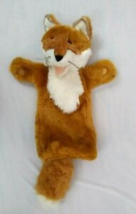 """The Puppet Company Fox Long Sleeve Plush Puppet Animal Brown White 15"""""""