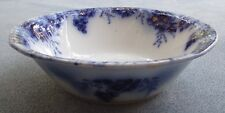 Johnson Brothers Flow Blue Peach Floral Round Serving Vegetable Bowl England