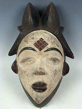 AFRICAN ART, TRIBAL ART PUNU MASK