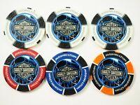 Lot of Six (6) Thunder & Lighting Poker Chips