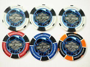 Lot De Six (6) Thunder & Éclairage Poker Puces