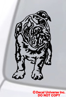 ENGLISH BULLDOG Vinyl Decal Sticker Car Window Wall Bumper Dog Puppy Love Cute