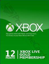 XBOX LIVE GOLD 12 MESI, CONSEGNA IMMEDIATA 24/7 (LEGGERE DESCRIZIONE)