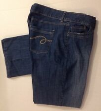 Women's Jeans Riders Size 18 Med Boot Cut Denim Blue Jeans 5 Pocket Med Wash