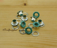 eyelets metal with washer grommets Turquoise blue round 100 sets 4 mm AC72K