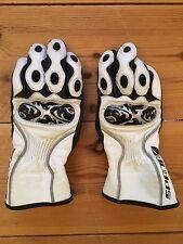 Spada Thirty3 Scroll Ladies Women's Motorcycle Sport Gloves White Size XS