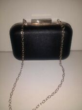 Small Black Evening Bag with Detachable Chain Handle.