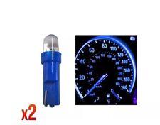 Speedo Bombillas 286 2x 12 V 1.2 W T5 5 mm Super Brillante Azul LED Cuña Coche Dashboard NW