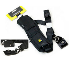 Black Quick Rapid Single Shoulder Sling Belt Strap K For Canon Nikon  Camera