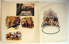 SNOW WHITE and THE SEVEN DWARFS ~ Vintage Ad Sheet with Movie Scenes