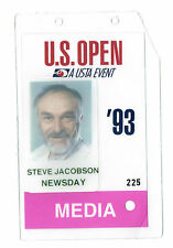 1993 Tennis US Open Media PRESS Pass TICKET Steve Jacobson Newsday Pete Sampras