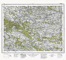 Mappa ANTICA 1932 Militare Polacco zamosc area Polonia REPLICA poster stampa pam0484