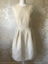 AUTOGRAPH MARKS AND SPENCER CREAM GOLD DRESS SIZE 12 NEW BNWT