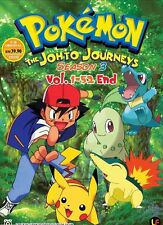ANIME Pokemon The Johto Journeys Complete Season 3 DVD Box Set - UK SHIPPING