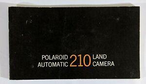 Polaroid 210 Automatic Land Camera Instruction Owners Manual Photography