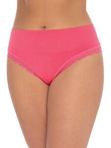 Secret Treasures Women's Wideband Seamless Thong Panties Size 2XL Coral Red