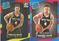 2017-18 DONRUSS RATED ROOKIE PP DERRICK WHITE #55/199 & Red Yellow #172 LOT X 2