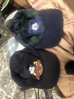 2x Mickey Mouse Disney Hat Co Since 1928 Snapback Baseball Cap Hat Plaid Green