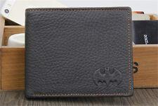 Black Men's Batman Leather Bifold Wallet Credit/ID Card Holder Slim Coin Purse