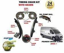 FOR PEUGEOT BOXER 2.2 HDi 100 120 2006-->NEW TIMING CAM CHAIN KIT + GEARS SET