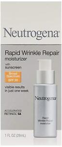 Neutrogena Rapid Wrinkle Repair Moisturizer (with Sunscreen SPF 30, Retinol), 29