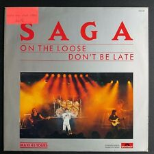 "Saga ‎– On The Loose / Don't Be Late (Vinyl, 12"", Maxi 45 Tours, Promo)"