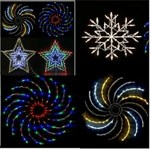 Christmas Star Spinner 100 9635 LED Window Silhouette Decoration Snowflake Light