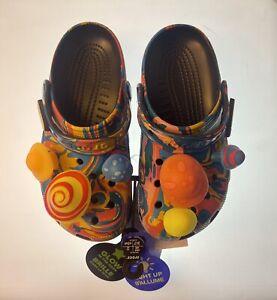 Diplo x Crocs Classic Clogs Size Mens 4/ Women's 6 Glow In Dark Mushroom Jibbitz