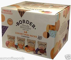 Border Biscuits - 48 in a box (4 Varieties) Luxury Mini Packs, 2 per Pack
