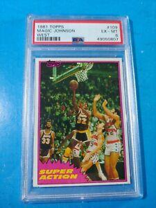 1981-82 TOPPS BASKETBALL #109 MAGIC JOHNSON SUPER ACTION PSA 6 NEW SLAB