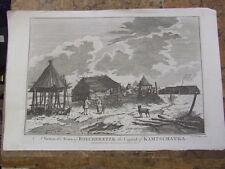 Ver bolcheretzk, capital de kamschatka. Rusia. Original Grabado, 1785.