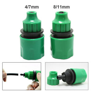 DIY Garden Lawn Water Hose Quick Connector Fit For 4/7mm & 8/11mm Micro Hose New