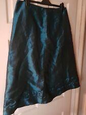 Womens Klass Teal Metallic Skirt. Size 18 Petite.