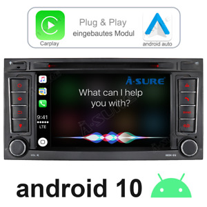 Carplay Android Auto 10.0 Autoradio DVD GPS Für VW Touareg II 7P I 7L DAB+ WIFI
