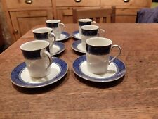 6x ST MICHAEL HAMPTON COFFEE CAN CUP/SAUCER ESPRESSO DEMI TASSE GOOD RETRO STYLE