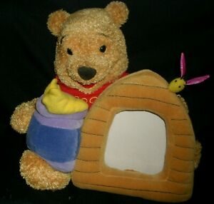 WINNIE THE POOH BEE HIVE PICTURE FRAME STUFFED ANIMAL PLUSH DISNEY STORE TOY POT