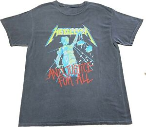 New Men's Metallica And Justice For All Grey 1988 Vintage Retro T-Shirt Tee