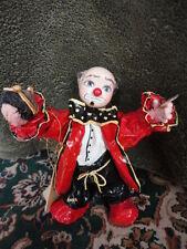 """Papier Mache Clown RoMa by Rosa Maria Silva Handmade 7-1/4""""t Vintage"""