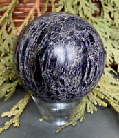 223.8g GENUINE RARE PURPLE CHAROITE CRYSTAL POLISHED HEALING SPHERE Reiki RUSSIA