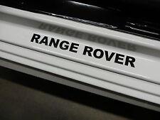(2pcs) RANGE ROVER doorstep badge decal - BLACK