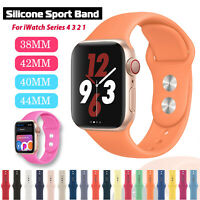 38/42/40/44mm Silicone Sports Band iWatch Strap for Apple Watch Series 5 4 3 2 1