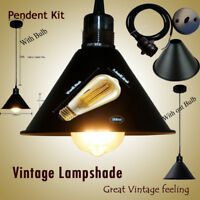 V Shape Modern Retro Metal Ceiling Pendant Light Shade Lampshade Easy Fit Shades
