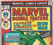 MARVEL DOUBLE FEATURE #8 Captain America & Iron Man from Feb. 1975 in VG