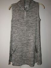 New NWT BB Dakota Sleeveless Heather Gray Cowl Neck Knit Tunic Top XS
